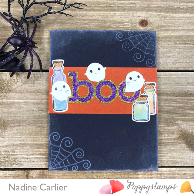 Halloween Boo Card by Nadine Carlier