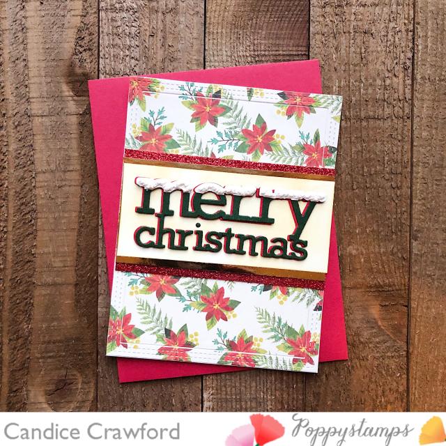 2387 Snowy Merry Christmas craft die