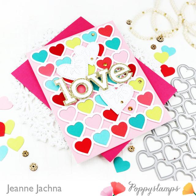 Banded Hearts-Poppystamps-Jeanne Jachna-Angle