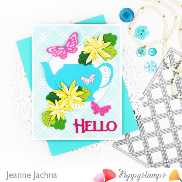 Grandmas Teapot-Poppystamps-Jeanne Jachna