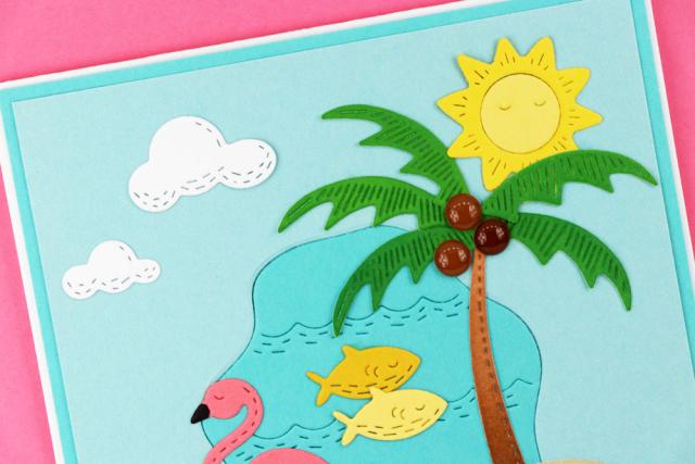 Whittle Flamingos-Poppystamps-Jeanne Jachna-CU1