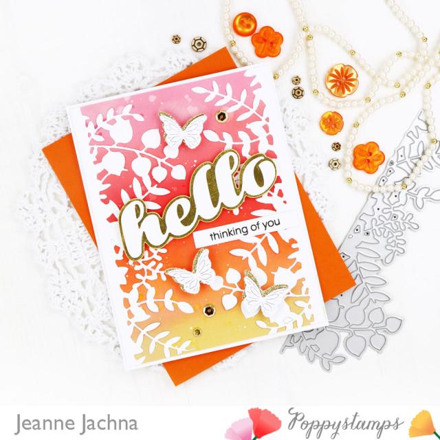 Leafy Garden Border-Poppystamps-Jeanne Jachna-Side