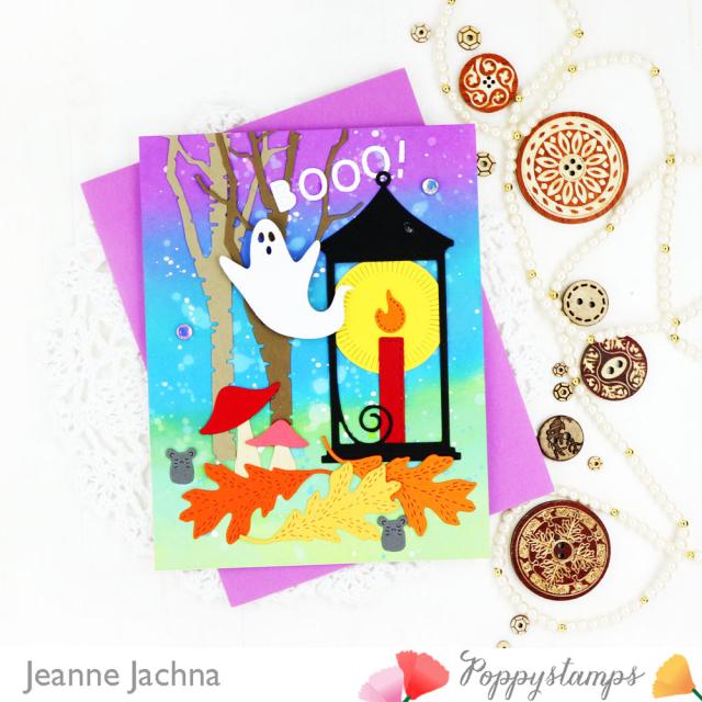 Halloween Lantern-Poppystamps-Jeanne Jachna