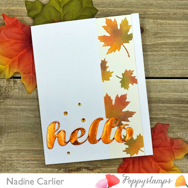 Hello Autumn Card by Nadine Carlier