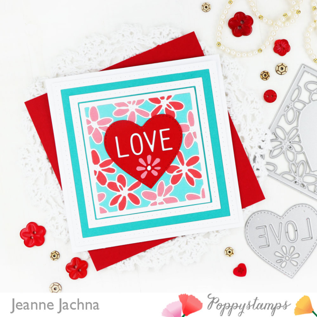 Scribble Daisy Heart-Poppystamps-Jeanne Jachna-Side