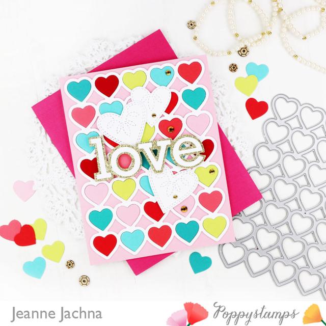 Banded Hearts-Poppystamps-Jeanne Jachna-Side