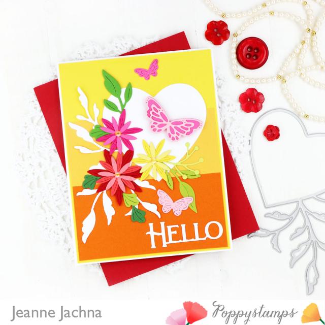 Leaf Flourish Heart-Poppystamps-Jeanne Jachna-Side