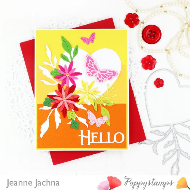 Leaf Flourish Heart-Poppystamps-Jeanne Jachna