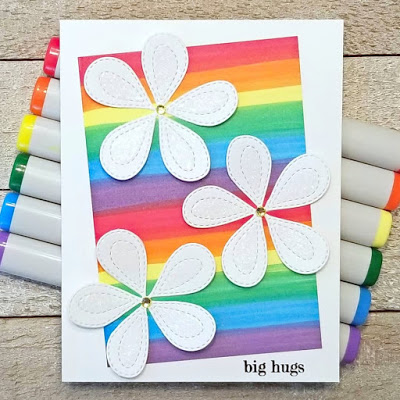 Poppystamps April Rainbows