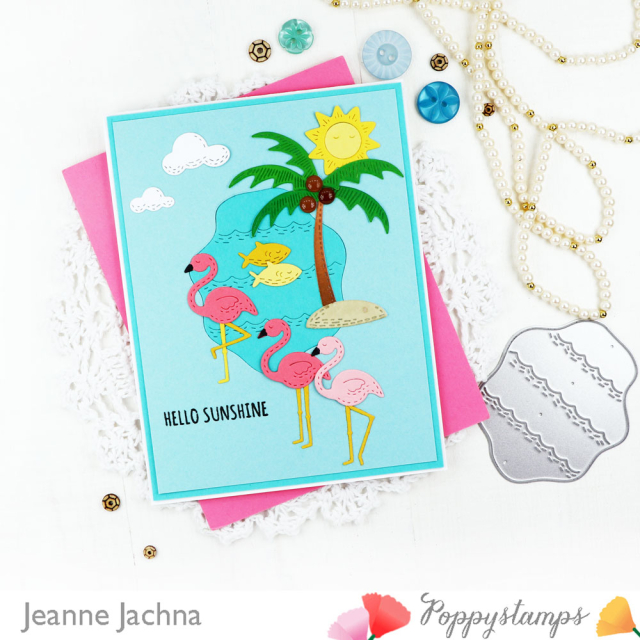 Whittle Flamingos-Poppystamps-Jeanne Jachna-Side