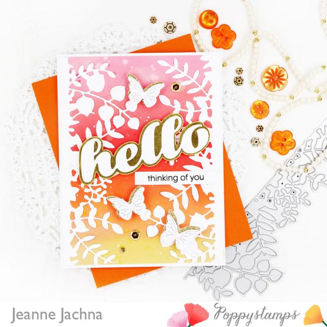 Leafy Garden Border-Poppystamps-Jeanne Jachna
