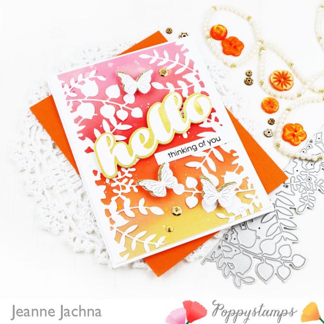Leafy Garden Border-Poppystamps-Jeanne Jachna-Angle