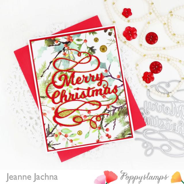 Merry Christmas Script-Poppystamps-Jeanne Jachna-Side
